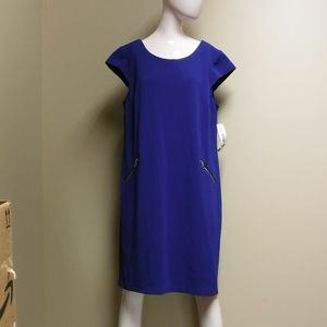 R & K Royal Blue Short Sleeve Dress Size XL NWT